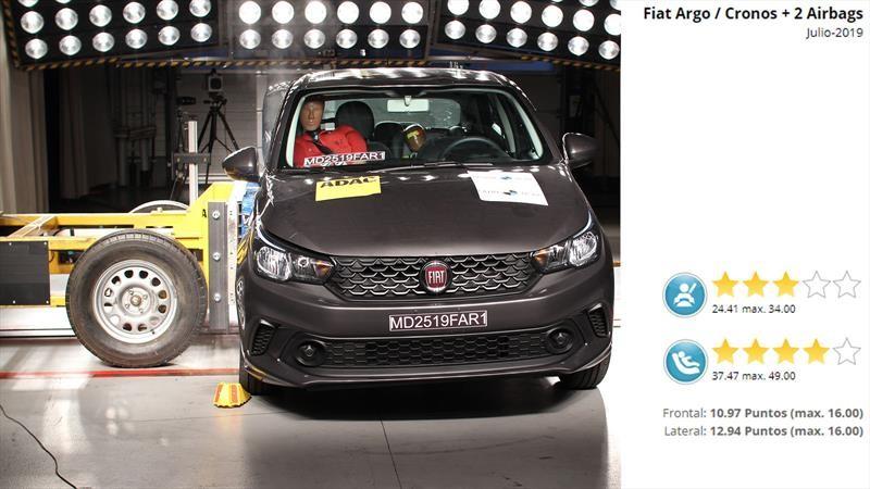 FIAT Argo y Cronos recibe 3 estrellas de LatinNCAP