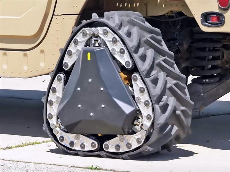 DARPA hace una llanta que se transforma en oruga