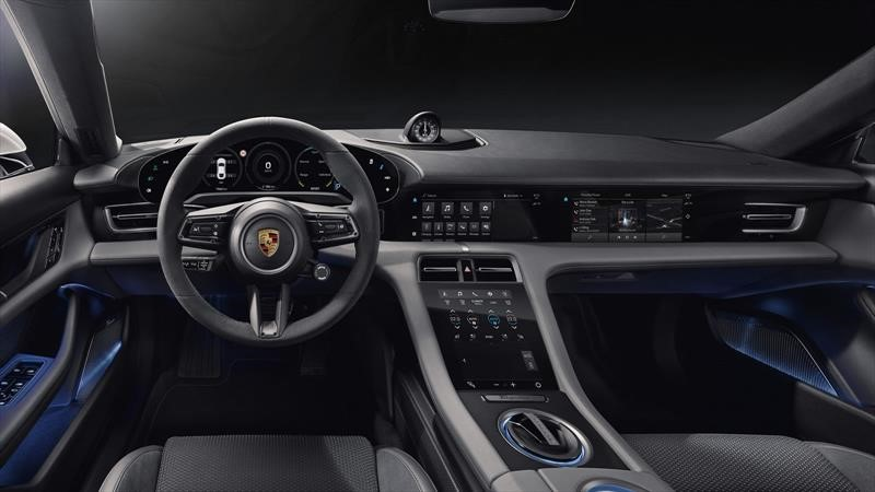 Porsche Taycan tiene un interior sumamente futurista