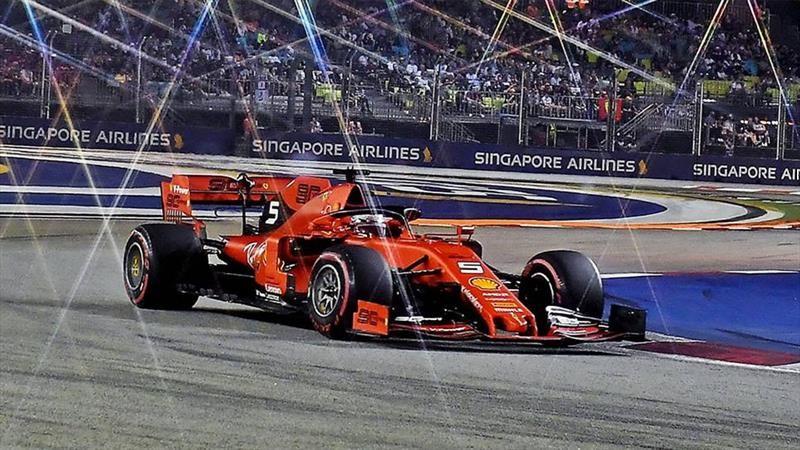 Ferrari gana el F1 GP de Singapur 2019, Vettel termina con su maldición