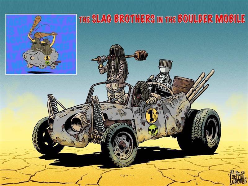 Los Autos Locos al estilo Mad Max